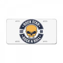 Rock star   Rock N Roll License Plate | Artistshot