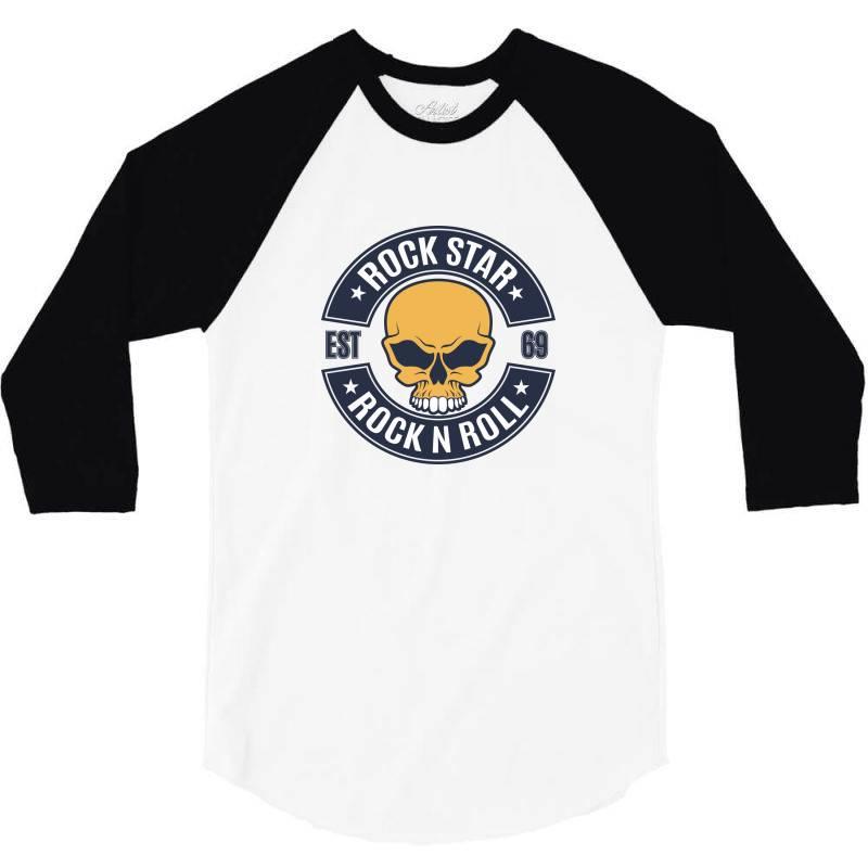 Rock Star   Rock N Roll 3/4 Sleeve Shirt | Artistshot