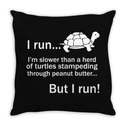 I Run Throw Pillow | Artistshot