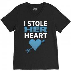 I Stole Her Heart V-Neck Tee | Artistshot
