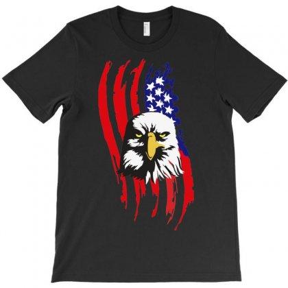 American Eagle Usa Flag Head T-shirt Designed By Sbm052017