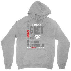 I Wear Grey For My Grand Daughter (Brain Cancer Awareness) Unisex Hoodie   Artistshot