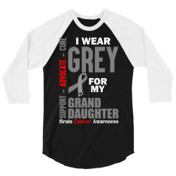 I Wear Grey For My Grand Daughter (Brain Cancer Awareness) 3/4 Sleeve Shirt   Artistshot