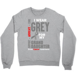 I Wear Grey For My Grand Daughter (Brain Cancer Awareness) Crewneck Sweatshirt   Artistshot
