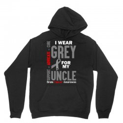 I Wear Grey For My Uncle (Brain Cancer Awareness) Unisex Hoodie   Artistshot