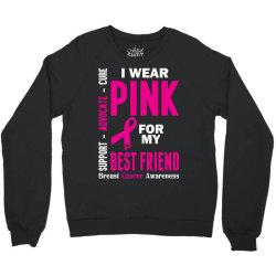 I Wear Grey For My Best Friend (Brain Cancer Awareness) Crewneck Sweatshirt   Artistshot