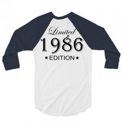 limited edition 1986 3/4 Sleeve Shirt | Artistshot