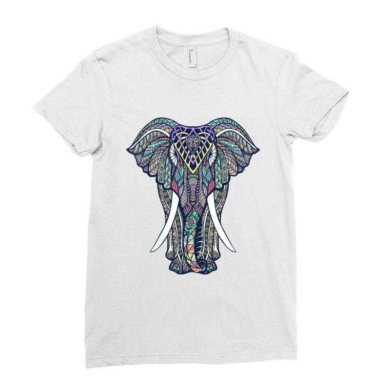 Indian Elephant Ladies Fitted T-shirt | Artistshot