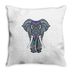Indian elephant Throw Pillow | Artistshot