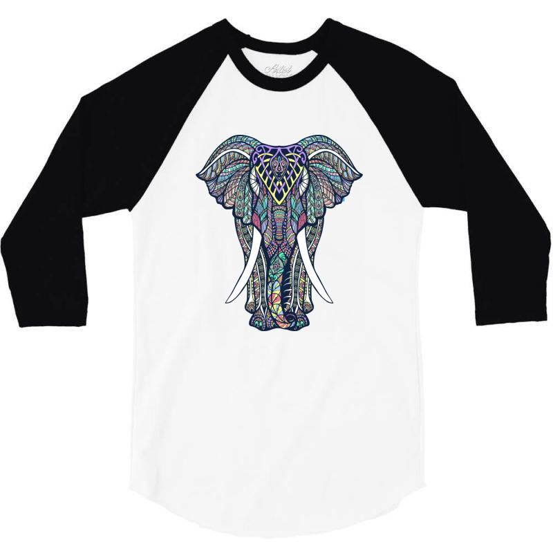 Indian Elephant 3/4 Sleeve Shirt   Artistshot