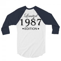 limited edition 1987 3/4 Sleeve Shirt | Artistshot