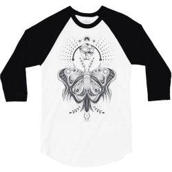 Butterfly 3/4 Sleeve Shirt   Artistshot