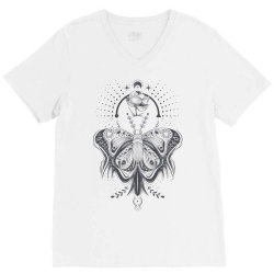 Butterfly V-Neck Tee   Artistshot