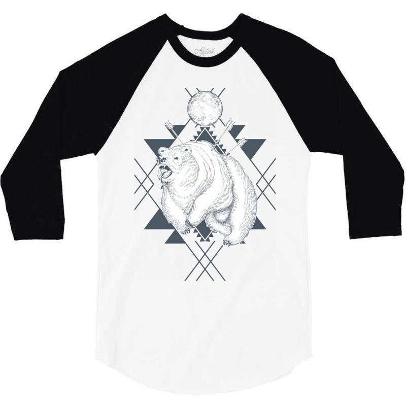 Bear 3/4 Sleeve Shirt | Artistshot