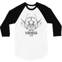 Vikings 3/4 Sleeve Shirt | Artistshot