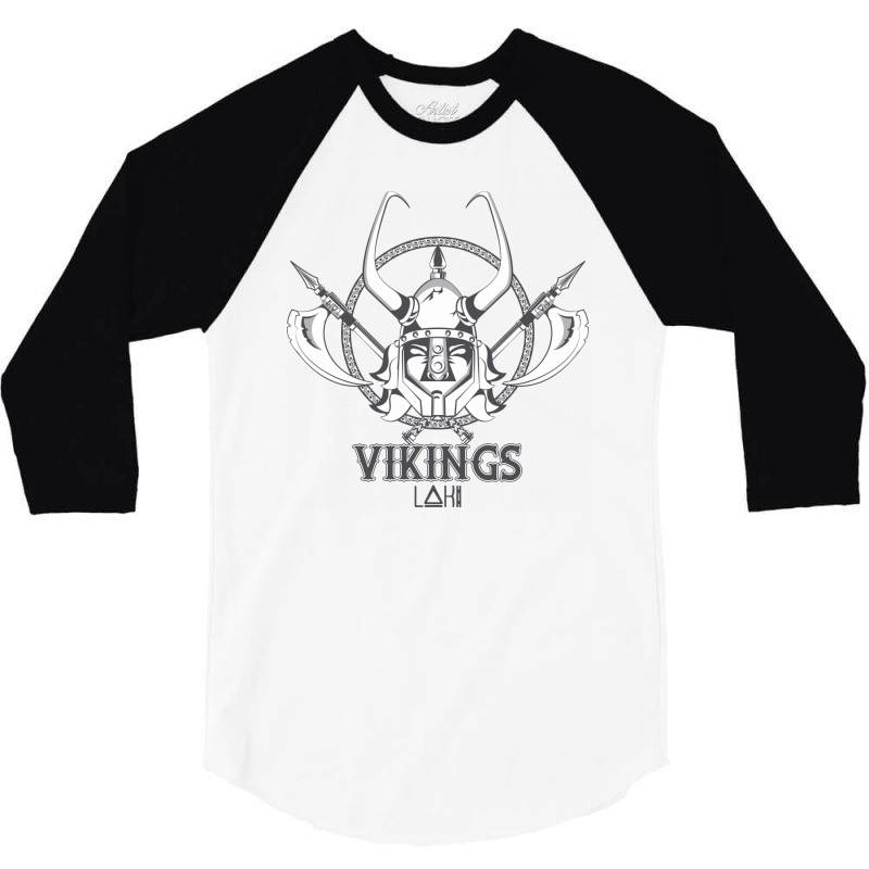 Vikings 3/4 Sleeve Shirt   Artistshot
