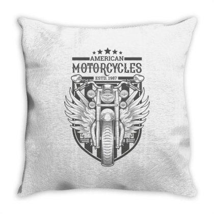 American Motorcycles Estd 1987 Throw Pillow Designed By Estore