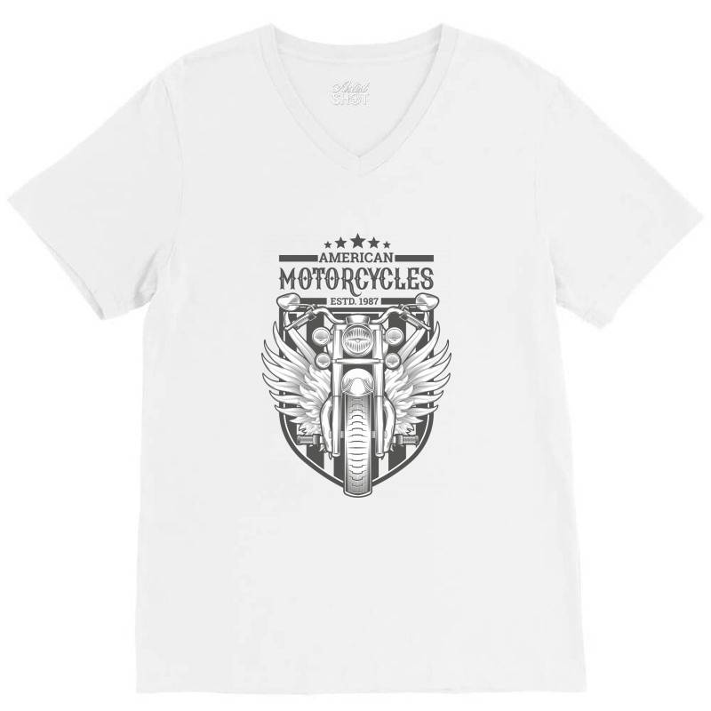 American Motorcycles Estd 1987 V-neck Tee | Artistshot