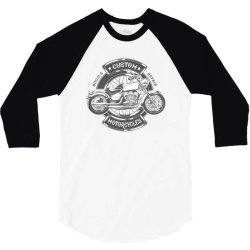 Custom Motorcycles 3/4 Sleeve Shirt | Artistshot