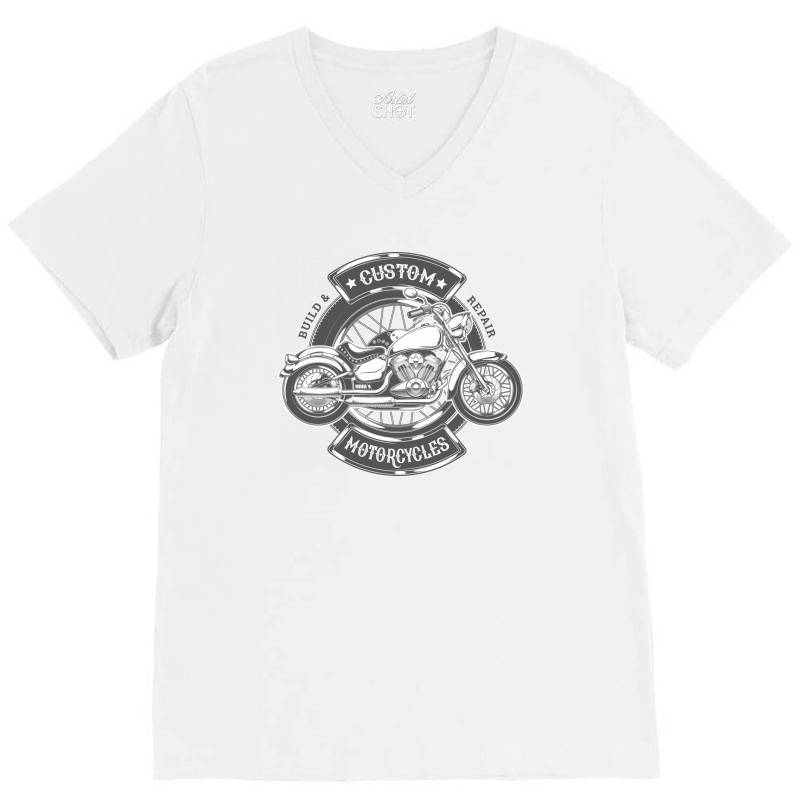 Custom Motorcycles V-neck Tee | Artistshot
