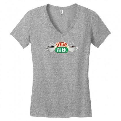 Friends Central Perk Women's V-neck T-shirt Designed By Thesamsat