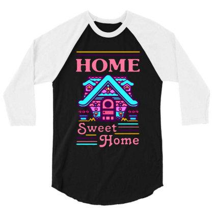 Home Sweet Home Mermaid Series Exterior 3/4 Sleeve Shirt Designed By Balqis Tees