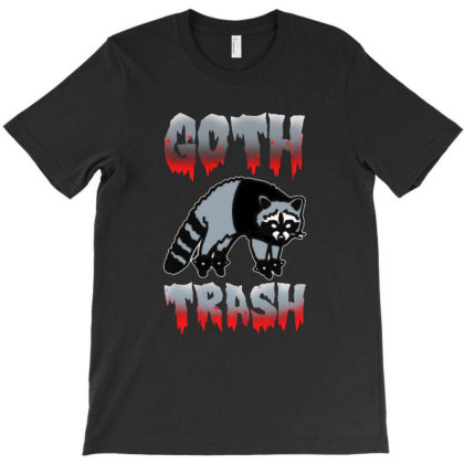 Goth Trash Raccoon T-shirt Designed By Balqis Tees
