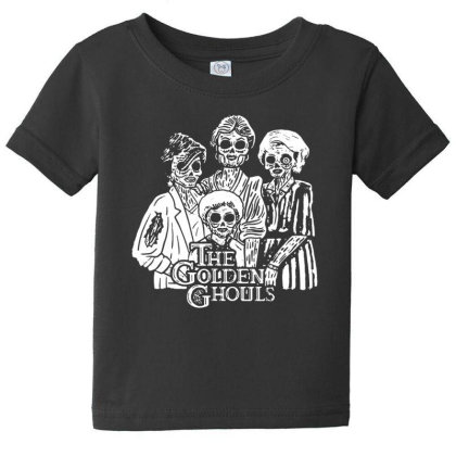 The Golden Ghouls Baby Tee Designed By Pinkanzee