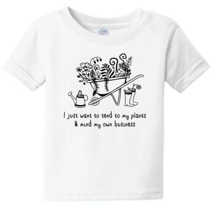 Plant Lover On Black Baby Tee Designed By Pinkanzee