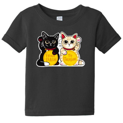 Lucky Rescue Cats Baby Tee Designed By Pinkanzee