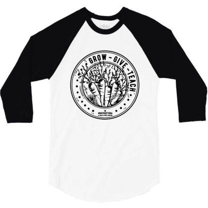 Fundraiser For Pennypack Farm On Black 3/4 Sleeve Shirt Designed By Pinkanzee