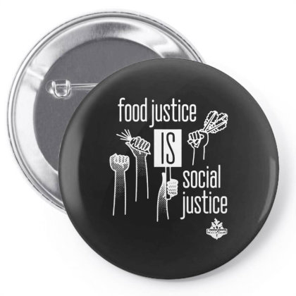 Food Justice Is Social Justice On White Pin-back Button Designed By Pinkanzee