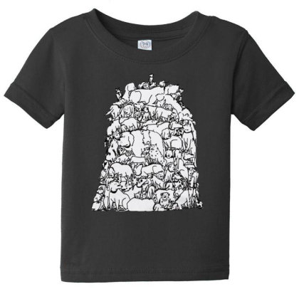 A Pile Of Dogs Funny Baby Tee Designed By Pinkanzee