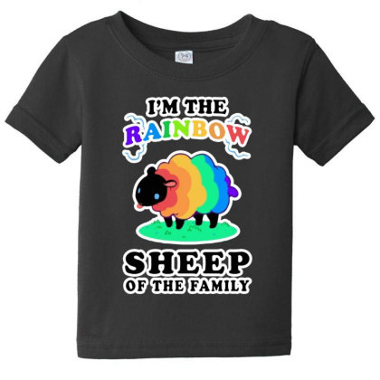 I'm The Rainbow Sheep Of The Family Baby Tee Designed By Pinkanzee