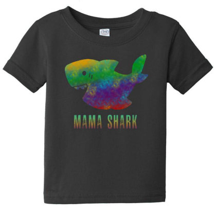 Mama Shark Baby Tee Designed By Pinkanzee
