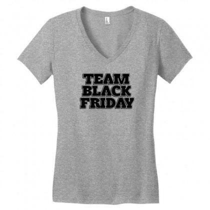 Team Black Friday Women's V-neck T-shirt Designed By Kiva27