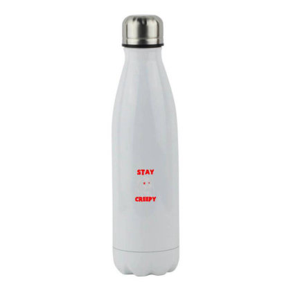 Stay Creepy Stainless Steel Water Bottle Designed By Pinkanzee