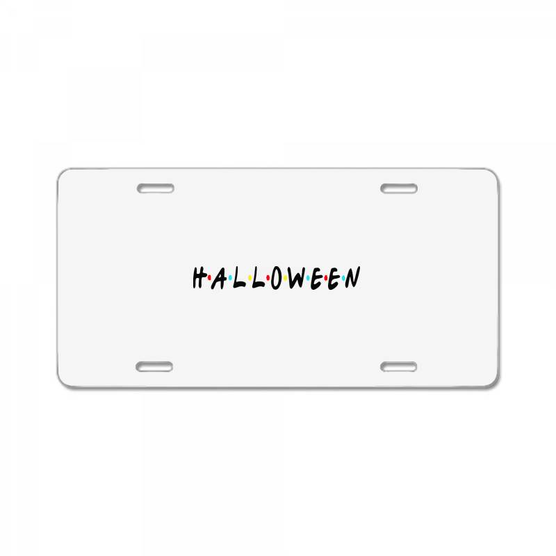 Halloween For Light License Plate | Artistshot