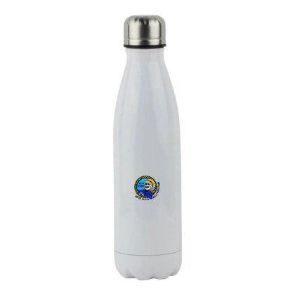 We're Saving Halloween Stainless Steel Water Bottle Designed By Pinkanzee