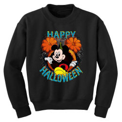 funny happy halloween Youth Sweatshirt | Artistshot