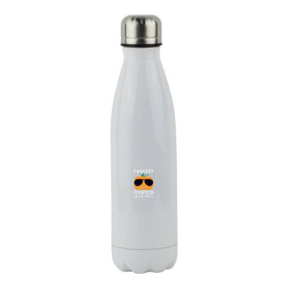 Funny Halloween Coolest In The Patch Stainless Steel Water Bottle Designed By Pinkanzee