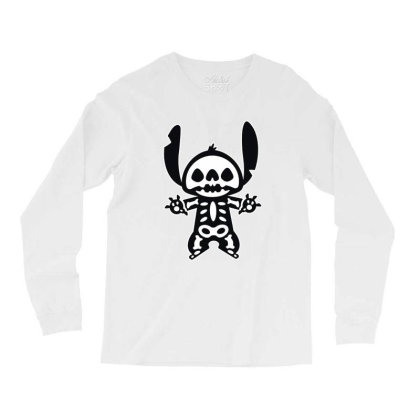 Funny Stitch Halloween Long Sleeve Shirts Designed By Pinkanzee