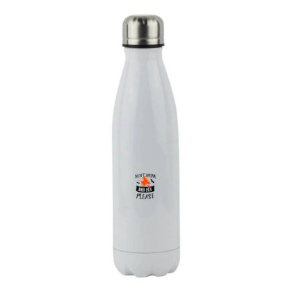 Don't Drink And Fly Please Stainless Steel Water Bottle Designed By Pinkanzee