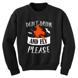 don't drink and fly please Youth Sweatshirt | Artistshot