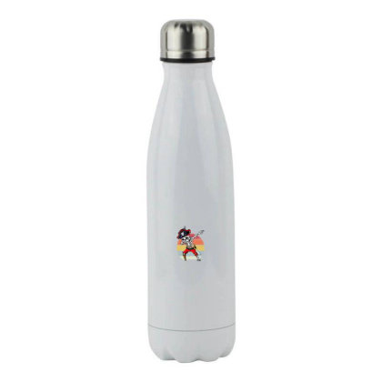 Skeleton Halloween Stainless Steel Water Bottle Designed By Pinkanzee