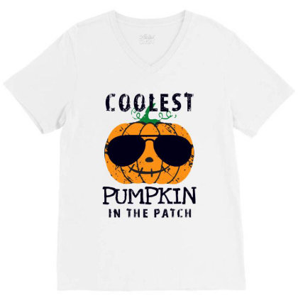 The Patch Funny Halloween V-neck Tee Designed By Pinkanzee