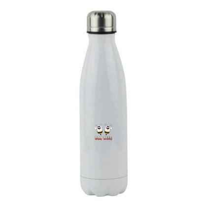 Boo Bees Couples Stainless Steel Water Bottle Designed By Pinkanzee