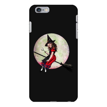 Witch Flying On Broom Iphone 6 Plus/6s Plus Case Designed By Pinkanzee