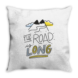 The road is long Throw Pillow | Artistshot