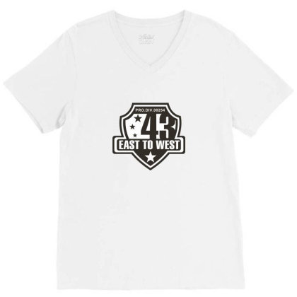 East To West  43 V-neck Tee Designed By Estore